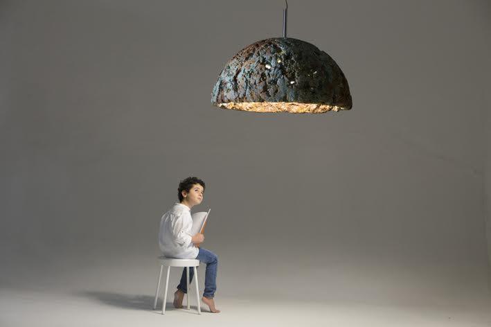 """Scansione della lampada """"Materia 1°"""" di Mat studio"""