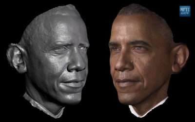 Il presidente Obama in 3D