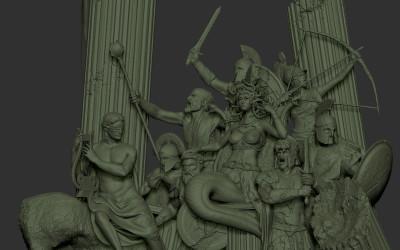 Medusa sul suo trono