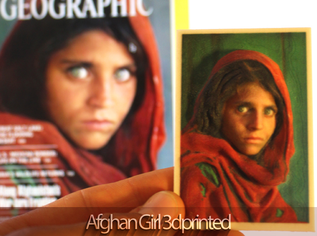 "La ""Ragazza Afgana"" di Steve McCurry rivive in 3D"