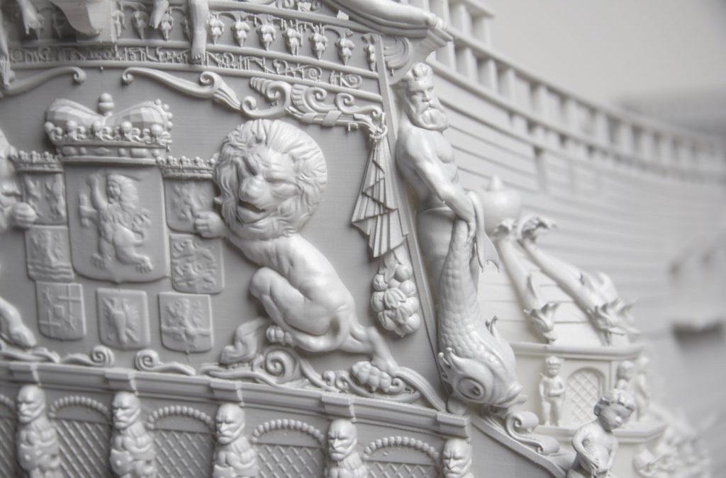 Ricreazione di un galeone del 17mo secolo con stampa 3D